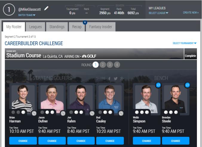 CB Challenge PGATOUR 2018